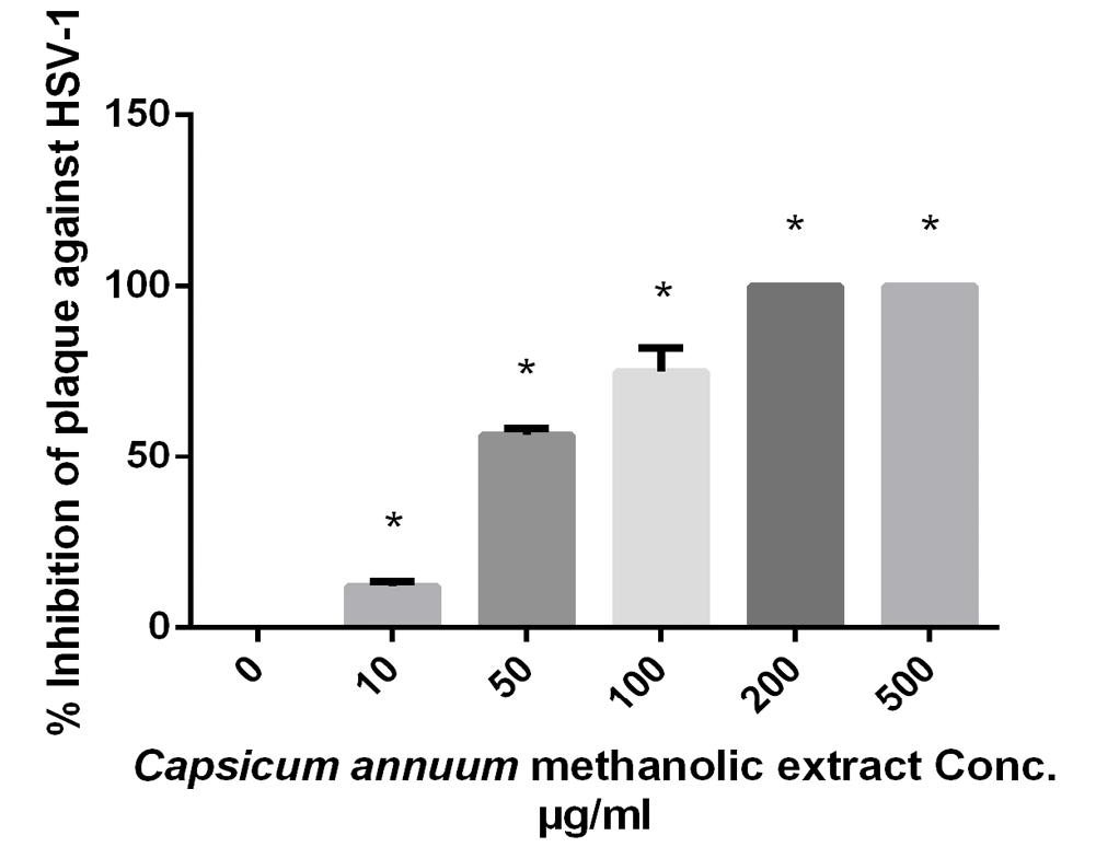 Antiviral Activities of Capsicum annuum Methanolic Extract