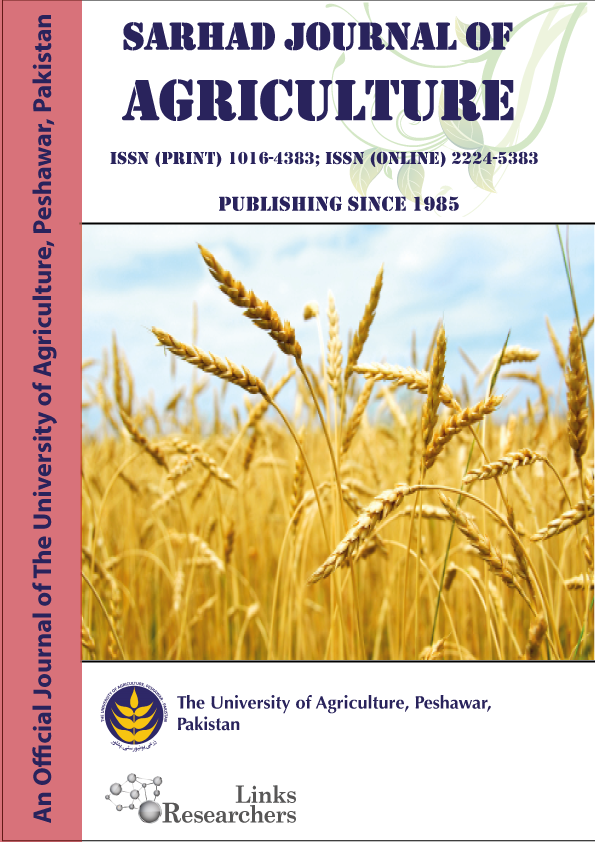 Sarhad Journal of Agriculture (Associated Journal)