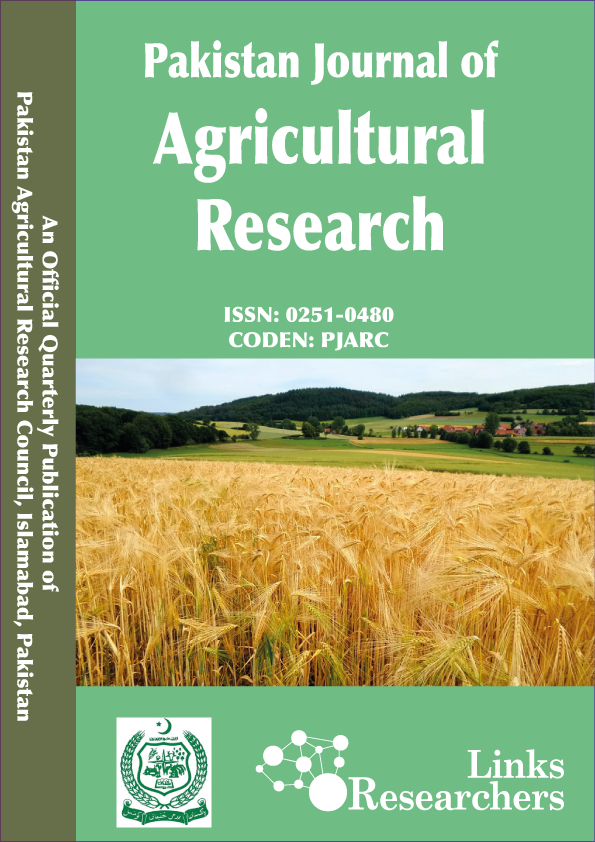 Pakistan Journal of Agricultural Research