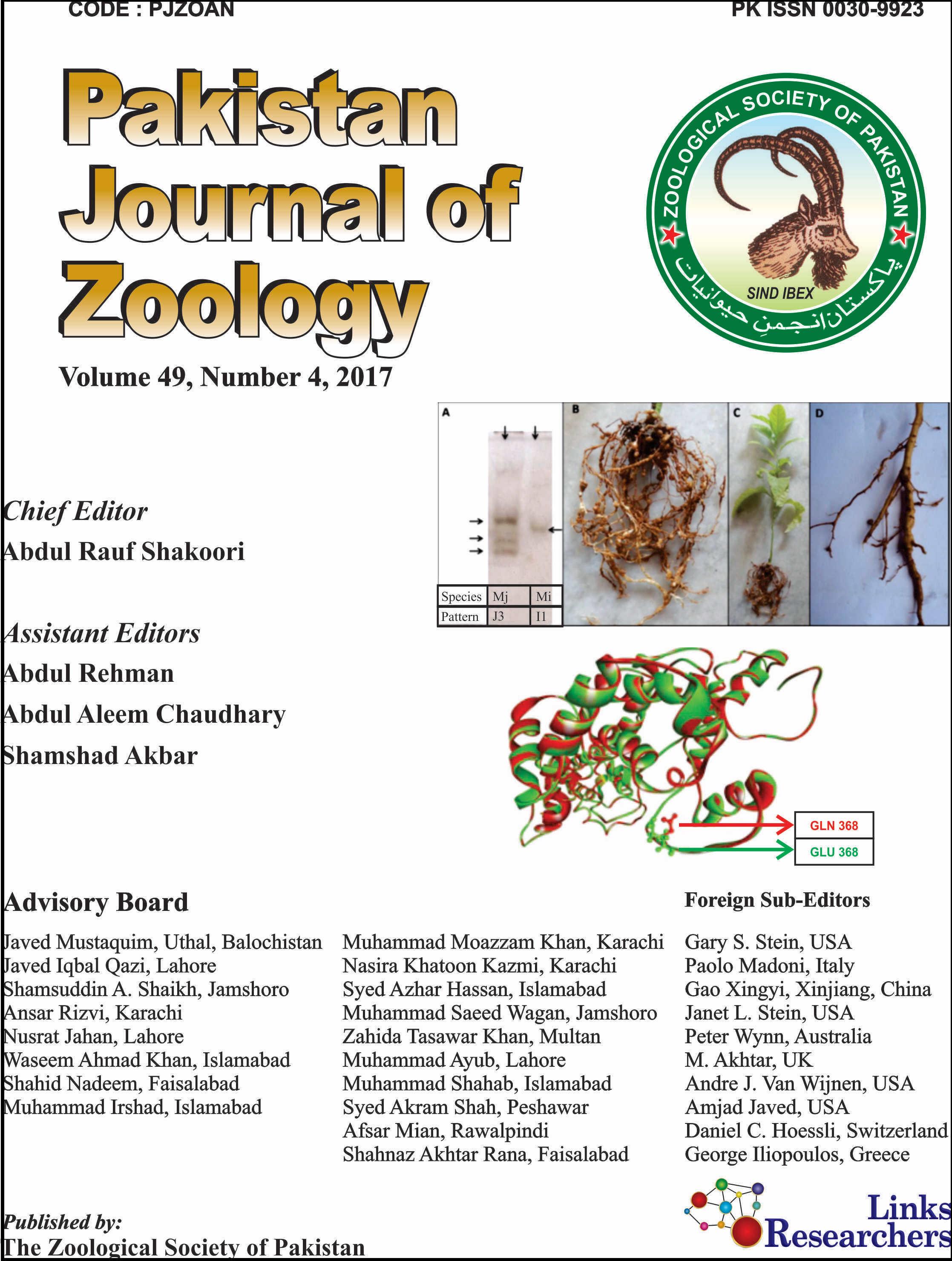 Pakistan Journal of Zoology (Associated Journals)