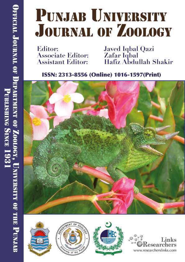Punjab University Journal of Zoology